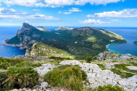 Panorama view of Cap de Formentor - wild coast of Mallorca, Spain