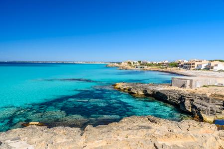 Beach Es Trenc - beautiful coast of Mallorca, Spain Stock fotó