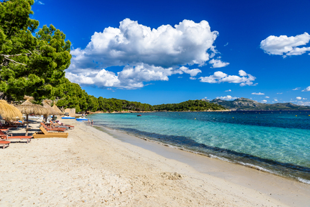 mallorca: Platja de Formentor - beautiful beach at cap formentor, Mallorca - Spain