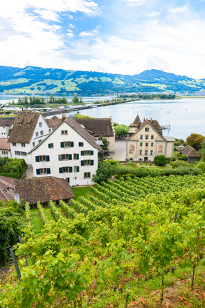 Rapperswil City at lake Zuerich, Switzerland - travel destination in Europe Stock Photo
