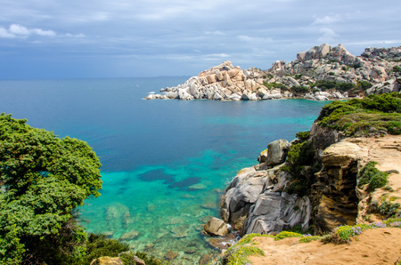 Sardinia - Capo Testa - Beautiful coast Stock Photo