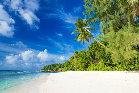 Anse Severe - beautiful beach on island La Digue, Seychelles