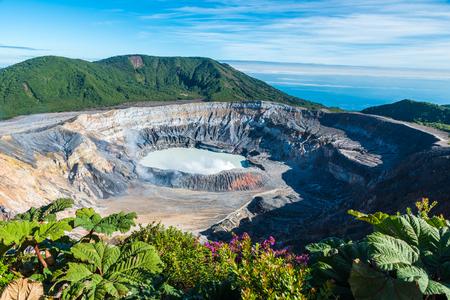 Vulcano Poas in Costa Rica Banque d'images