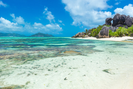 Anse Source dArgent - Beach on island La Digue in Seychelles