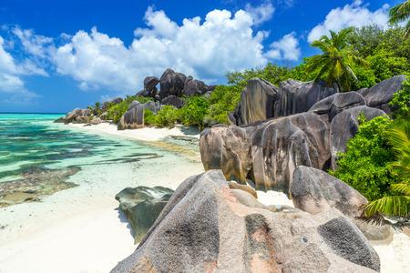 la digue: Anse Source dArgent - Beach on island La Digue in Seychelles