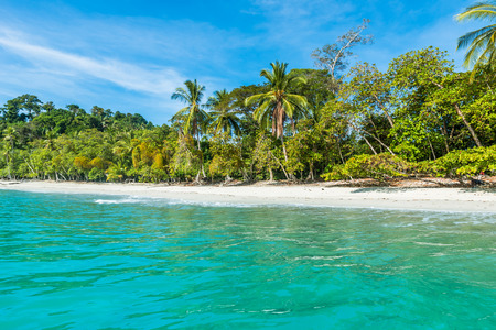 Manuel Antonio, Costa Rica - beautiful tropical beach 免版税图像