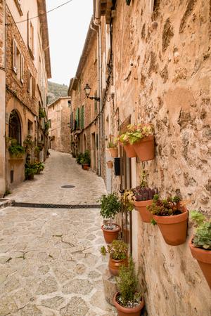 Valldemossa - old mountain village in beautiful landscape scenery of Mallorca, Spain Stock Photo