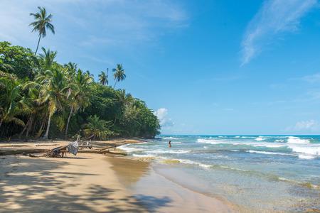 Playa Chiquita - Wild beach close to Puerto Viejo, Costa Rica Stock Photo