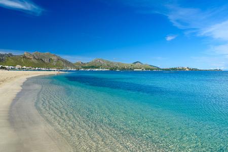 mallorca: Port de Pollenca - beautiful beach and coast of Mallorca, Spain