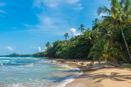 Playa Chiquita - Wild beach close to Puerto Viejo, Costa Rica Editorial