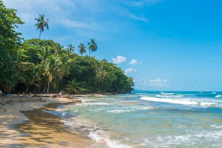 Playa Chiquita - Wild beach close to Puerto Viejo, Costa Rica Stok Fotoğraf