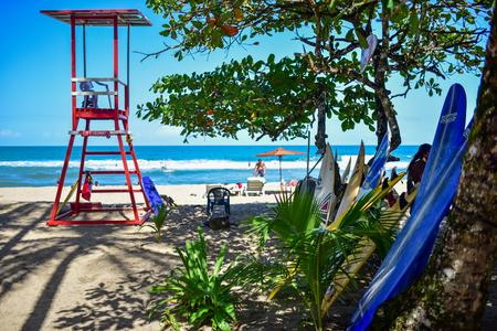 Lifeguard tower at surfer beach