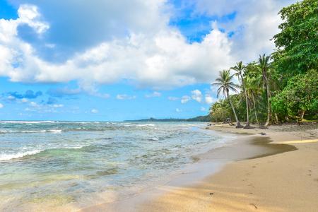 Playa Cocles - beautiful tropical beach close to Puerto Viejo - Costa Rica Stock Photo