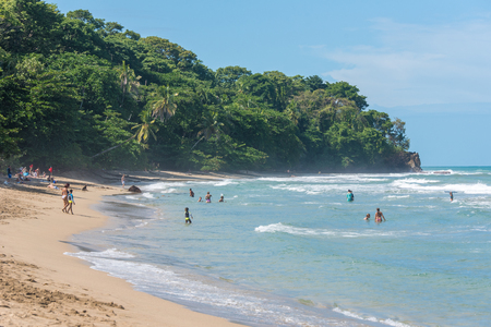 Playa Cocles - beautiful tropical beach close to Puerto Viejo - Costa Rica Editorial