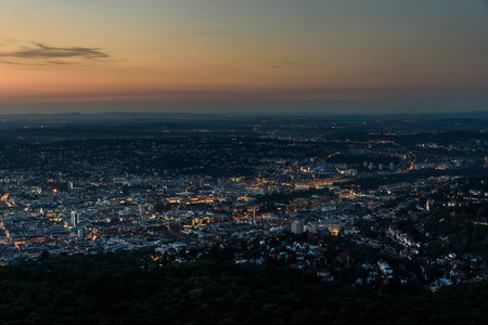 despatch: Stuttgart City at night in the summer - Travel Destinations in Germany