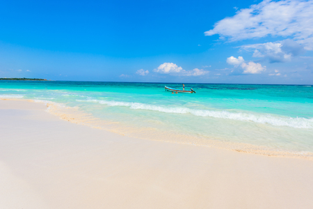 Xpu-Ha Beach - beautiful caribbean coast of Mexico - Riviera Maya Imagens - 83480448