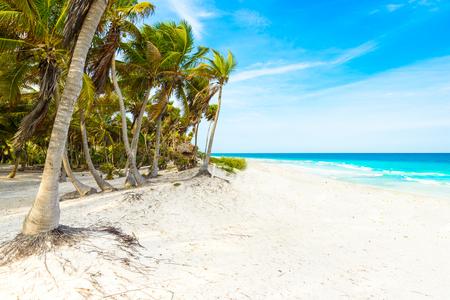 Riviera Maya - paradise beaches in Quintana Roo, Mexico - Caribbean coast Stock Photo