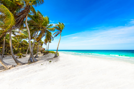 Riviera Maya - paradise beaches in Quintana Roo, Mexico - Caribbean coast Stock Photo