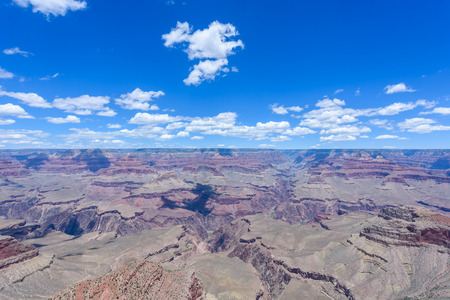 Grand Canyon - Viewpoint Mather Point to Grand Canyon National Park - travel destination in  Grand Canyon Village Stock Photo