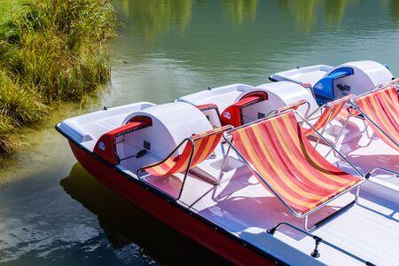 Boats at lake Wildsee at Seefeld in Tirol, Austria - Europe