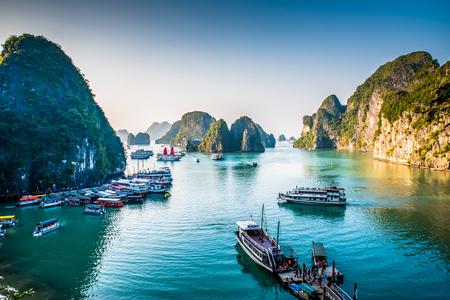 Halong Bay Vietnam Stockfoto