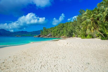 Anse Soleil - Paradise beach on tropical island Mah�