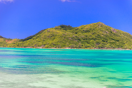 Beautiful Coast of Praslin, Seychelles Stock Photo