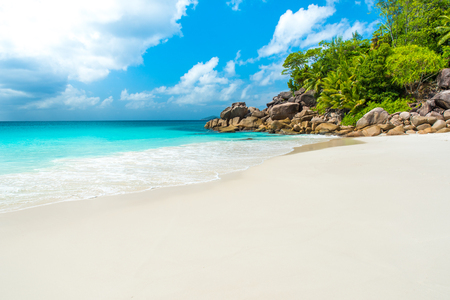 Beautiful Paradise beach - Anse Georgette at Praslin, Seychelles