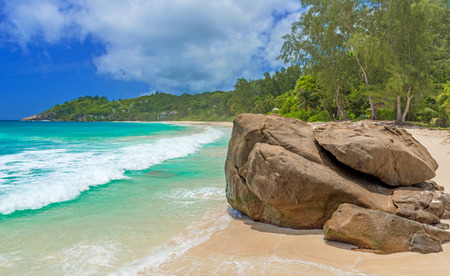 island: Anse Intendance - Beautiful beach on island Mahé in Seychelles