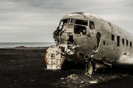 Plane wreck in wilderness Stock Photo - 83871619
