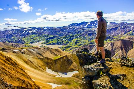 Landmannalaugar - Amazing Landscape in Iceland Stock Photo