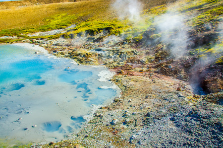 crater lake: Geothermal hot pool in Nature - Iceland
