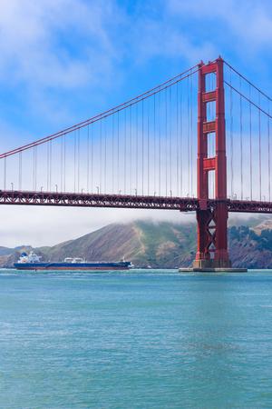 Golden Gate Bridge in San Francisco - Viewpoint from Torpedo Wharf
