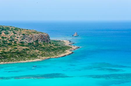 Paradise beach balos - View over Balos Lagoon, island on Crete, Greece
