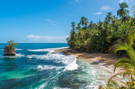 Wild caribbean beach of Manzanillo at Puerto Viejo, Costa Rica