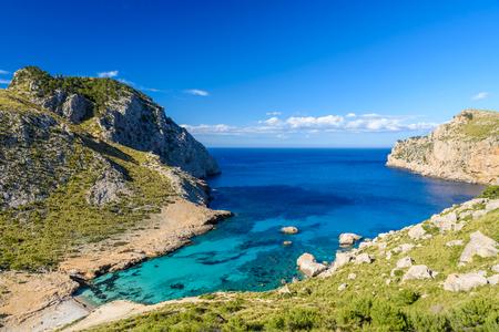 mallorca: Cala figuera at cap formentor - beautiful coast and beach of Mallorca, Spain