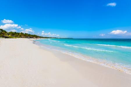 yucatan: Xpu-Ha Beach - beautiful caribbean coast of Mexico - Riviera Maya Stock Photo
