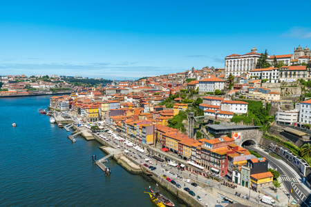 ribeira: Porto - Wine City in Portugal Stock Photo