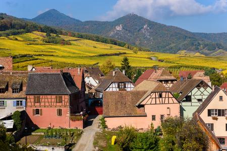 Hunawihr - small village in vineyards of alsace - france Foto de archivo