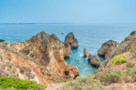 Farol da Ponta da Piedade - beautiful coast of Portugal, Algarve Banco de Imagens