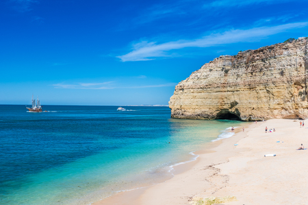 Praia do Vale de Centianes - beautiful beach of Algarve in Portugal