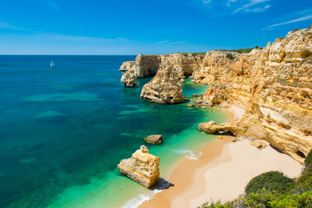 Praia da Marinha - Beautiful Beach Marinha in Algarve, Portugal