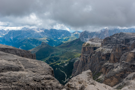 Hiking in the dolomites of Italy - Piz Boe