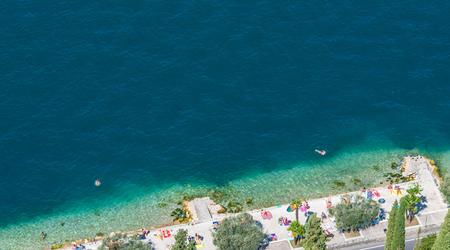 Viewpoint to Garda Lake in Italy Stock Photo
