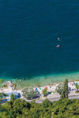 Viewpoint to Garda - Garda lake in Italy Stock Photo