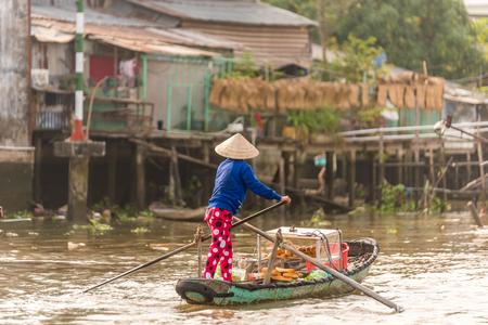 Mekong Delta in Vietnam Stock Photo - 87765020