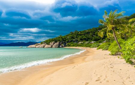 Beautiful beach at coast of Vietnam - Ninh van bay 写真素材