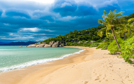 Beautiful beach at coast of Vietnam - Ninh van bay 免版税图像