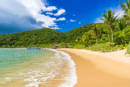 Beautiful beach at coast of Vietnam - Ninh van bay Standard-Bild