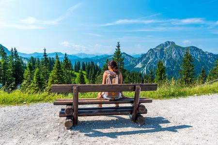 Beautiful Landscape in Allgäu -  Alps, Tegelberg Foto de archivo